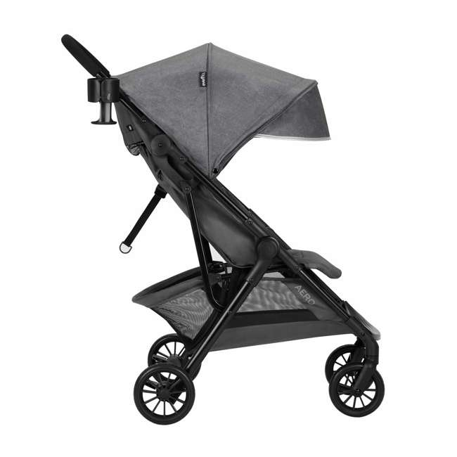 19142265 Evenflo Sibby Stroller Travel System with Folding Design and Storage, Charcoal 1
