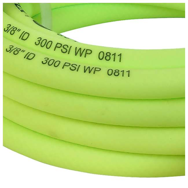 LEG-HFZP3825YW2-D Flexzilla Pro Air Hose with ColorConnex Type D Coupler and Plug, 3/8 In x 25 Ft 2