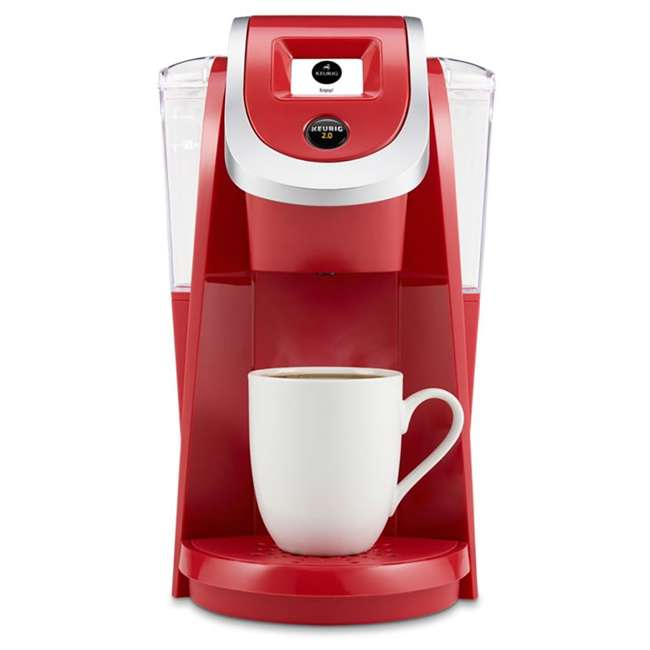 K20200RED_EGB-RB Keurig K200 Plus Single Serve Coffee Maker Brewer, Red (Certified Refurbished)