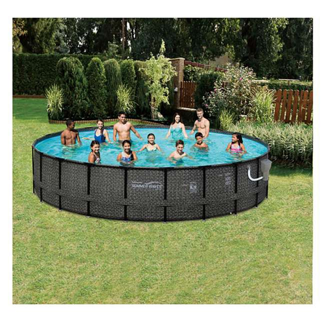 Summer waves elite 20 39 x 48 above ground frame pool set - Summer waves pool ...