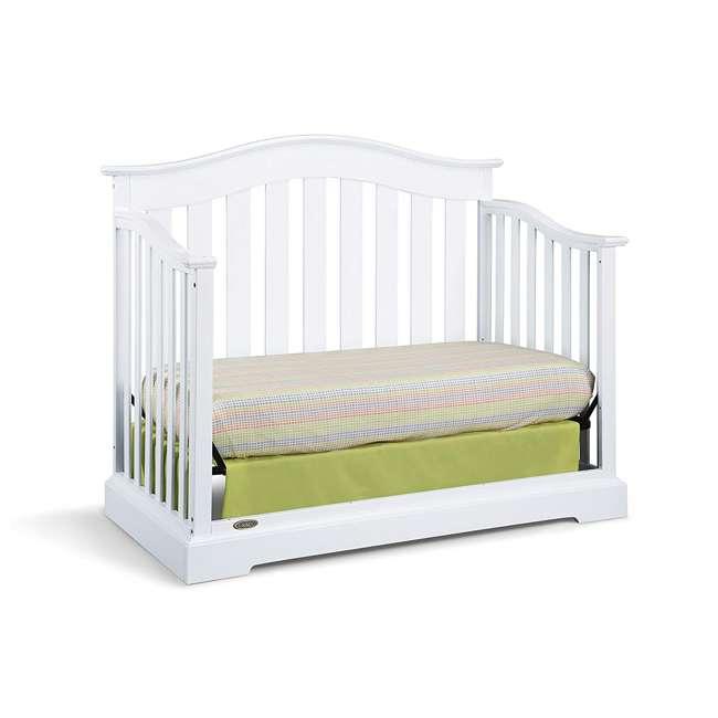 04550-041 + 06711-300 Graco Westbrook 4-in-1 Crib in White w/ Natural Foam Mattress 4