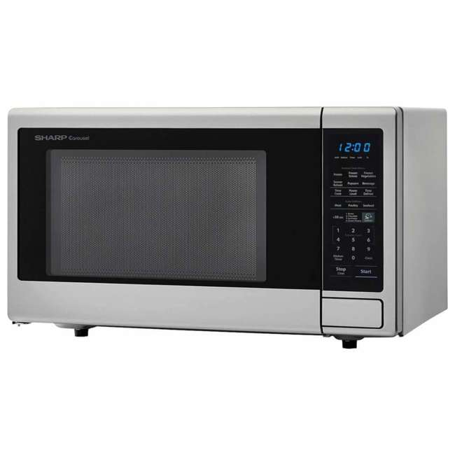 SMC1442CS-RB Sharp Carousel 1.4 Cu Ft Countertop 1000W Microwave Oven (Certified Refurbished) 2