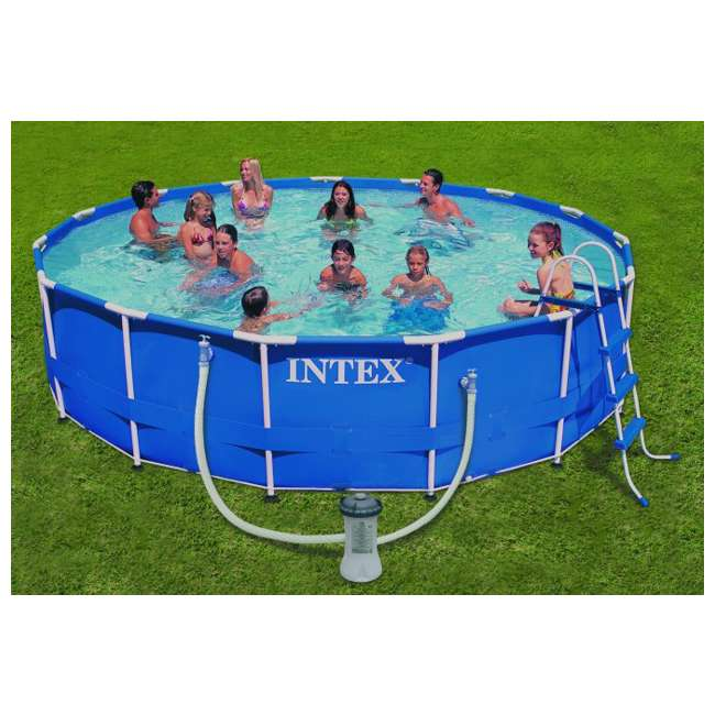 Intex 15 39 x 42 metal frame swimming pool set 54939eg for Clearance above ground pools