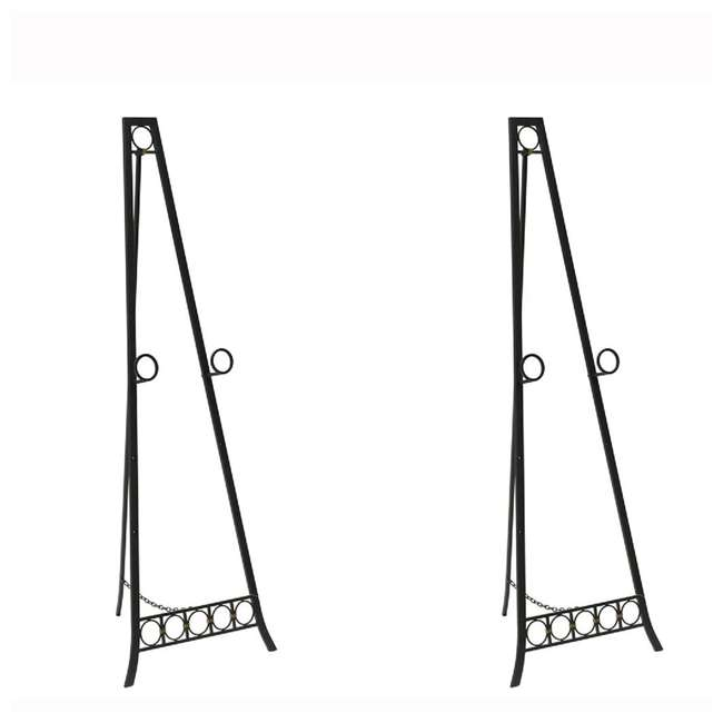 SC-FP6579 Abode 84 56-Inch Metal Adjustable Decorative Floor Easel (2 Pack)