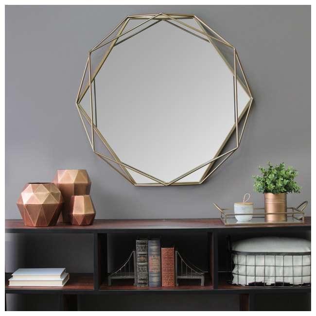 S11541 Stratton Home Decor S11541 Chloe Hand Painted Gold Metal Wall Mirror Art Decor 2