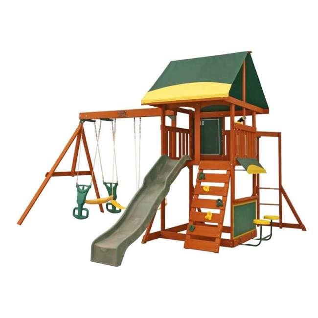 F23242 KidKraft F23235 Brookridge Childrens Wooden Outdoor Swing Set Playset Playground