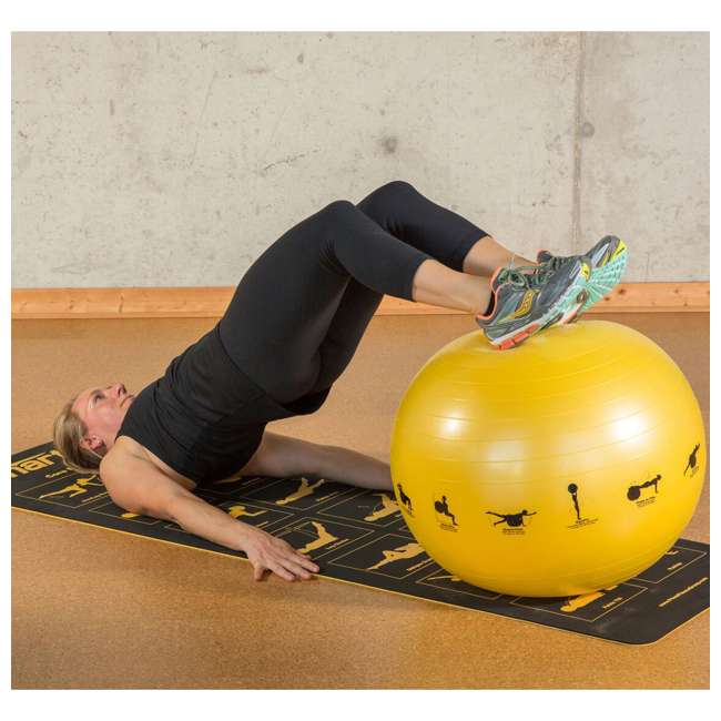 400-150-012 Prism Fitness 75cm Smart Self-Guided Stability Exercise Medicine Ball, Blue 1