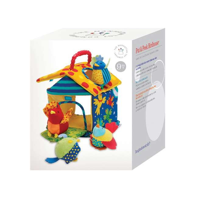 201110 Manhattan Toy Put and Peek Soft Interactive Birdhouse with 4 Colorful Birds 2