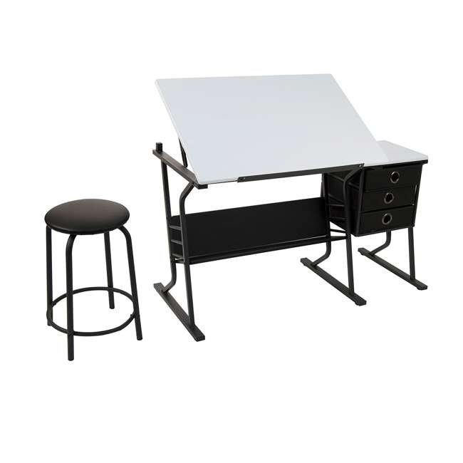 13364 Studio Designs Eclipse Tilting Drawing Arts, Crafts Desk w/ Stool (Used) 2