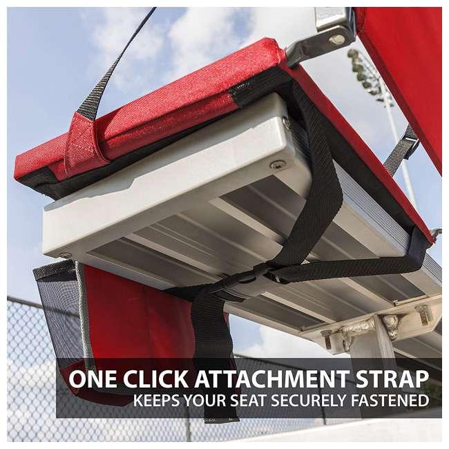 1-1-58813-DS-U-A Eastpoint Sports Adjustable Bleacher Backrest Seat, Red (Open Box) (2 Pack) 5