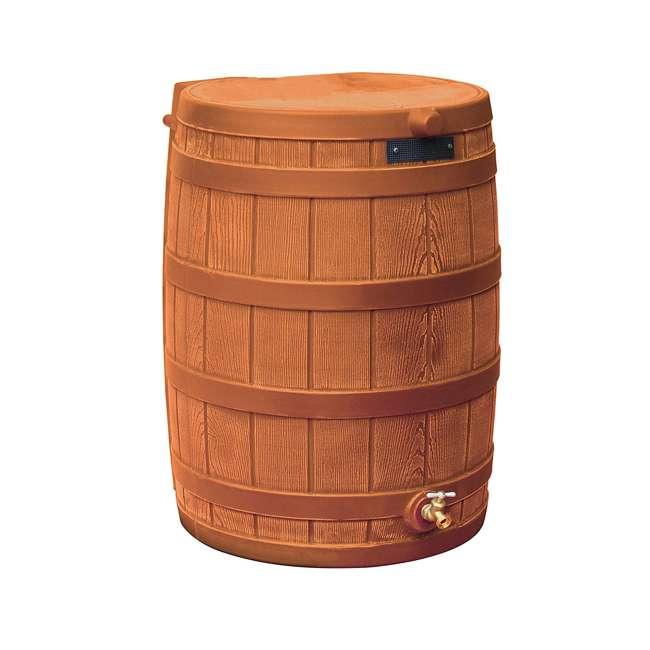 RW50-DIV-TC Good Ideas Rain Wizard Collection Barrel 50-Gallon w/ Diverter Kit, Terra Cotta 1
