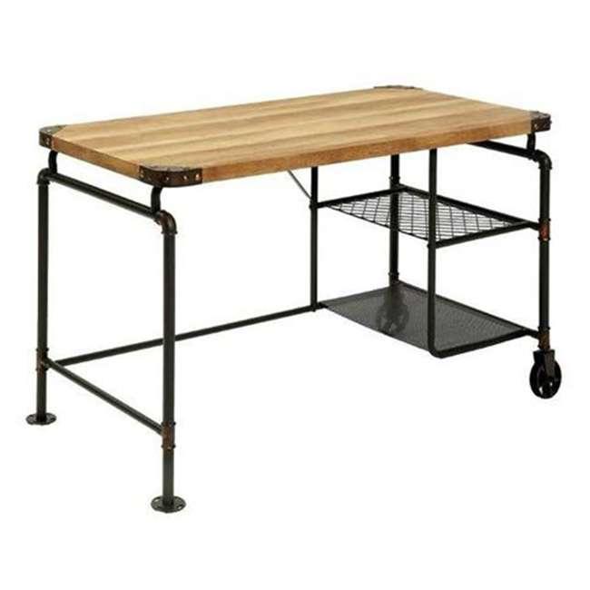 CM-DK6913 Furniture of America CM-DK6913 Olga I Industrial Antique Metal Writing Desk