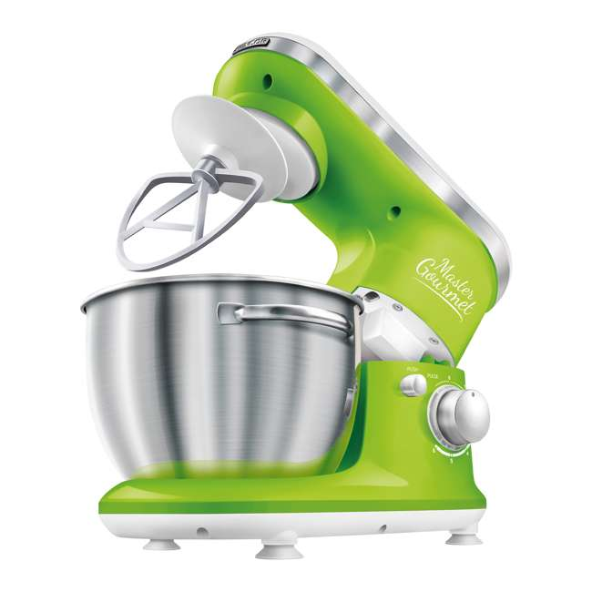 STM3621GR-NAA1 Sencor STM 3620WH 4.2 Quart 6 Speed Food Mixer with Stainless Steel Bowl, Green