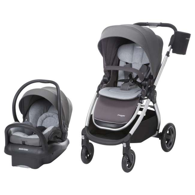 TR362CTF Maxi-Cosi Adorra Stroller and Car Seat Travel System, Loyal Gray