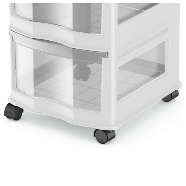 DRW3-M-WH-U-A Life Story 3 Shelf Storage Container Plastic Drawers, White (Open Box) (2 Pack) 2