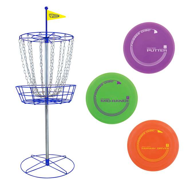 53311 Wham-O Official Frisbee Disc Golf Set, Blue