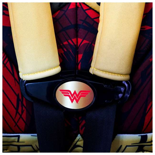 KE-3001WWM KidsEmbrace Combination 2 in 1 Booster Forward Facing Car Seat, DC Wonder Woman 7