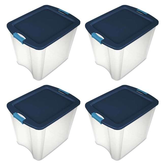 4 x 14489604-U-A 4 Pack Sterilite 26 Gallon Latch & Carry Storage Tote Box Containers (Open Box) 1