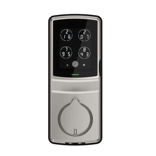 PGD728FSN + PGH200 Lockly Secure Plus Biometric Smart Deadbolt Lock, Nickel (2 Pack) w/ Door Sensor 1