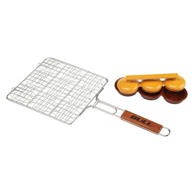 BOPA-24110 Bull Mini Burger Grilling Basket & Triple Patty Press