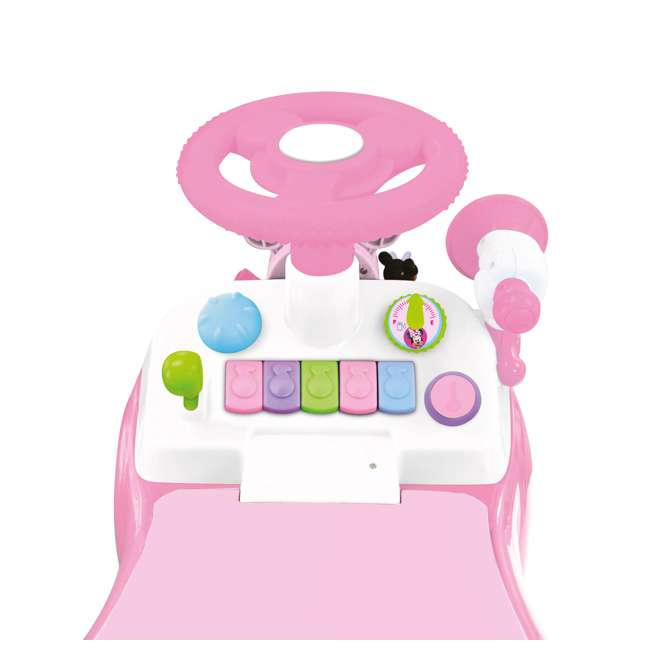 048280 Kiddieland Minnie Mouse Activity Gears Ride-On Car, Pink 3