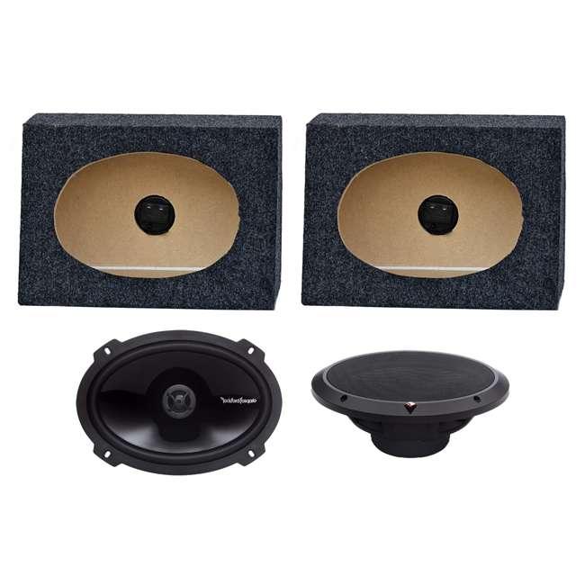 P1692 + TW6X9 2) Rockford Fosgate P1692 6x9-Inch 150W Speakers + 2) Angled 6x9-Inch Speaker Box (Package)