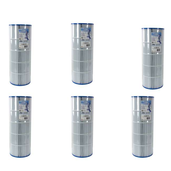 6 x C8412 Unicel C-8412 Replacement Pool Filter Cartridge (6 Pack)