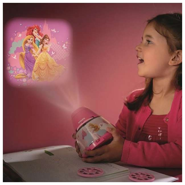 PLC-717692848 + PLC-7192428U0 Philips Disney Princess LED Nightlight with Projector and Push Touch Nightlight 4