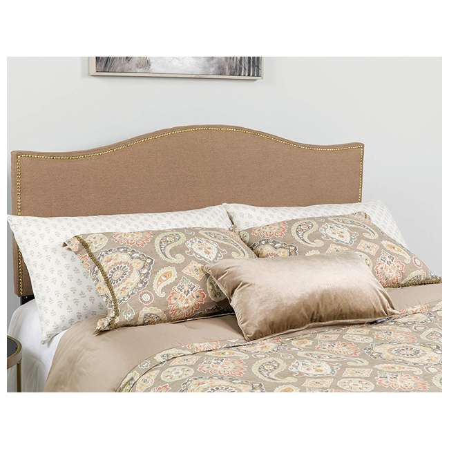 HG-HB1707-Q-C-GG Flash Furniture Lexington Upholstered Queen Size Headboard with Camel Fabric 1