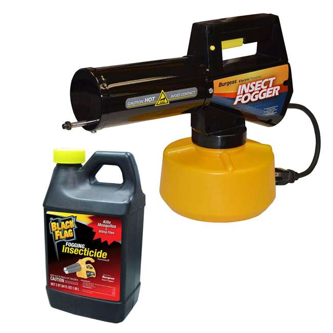 BGS-16960110N + BKF-190256 Burgess 960 Electric Insect Fogger & Black Flag 64-Oz Insecticide