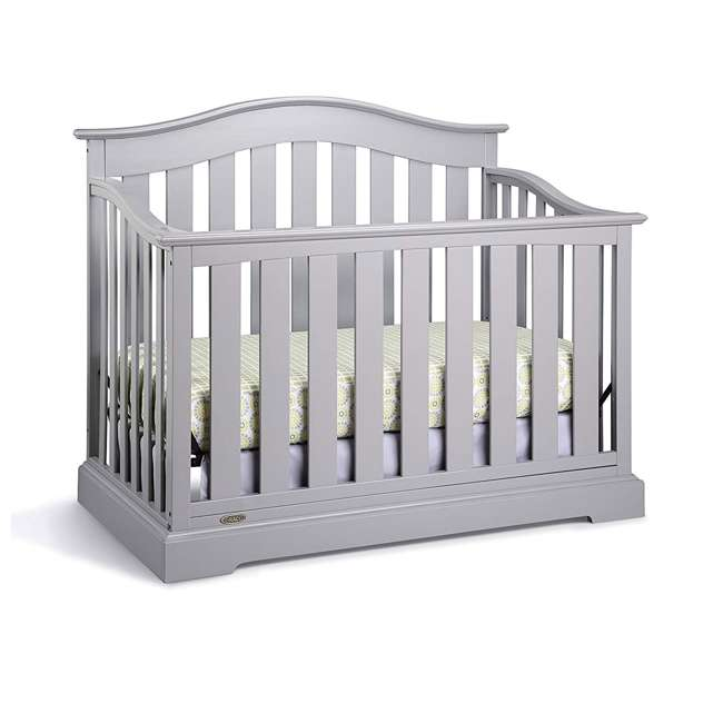 04550-04F + 06711-300 Graco Westbrook 4-in-1 Crib in Pebble Gray w/ Foam Mattress 1