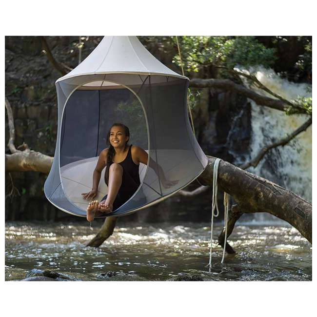 TP1600GR TreePod Cabana Lightweight Heavy Duty Lounger 6 Foot Hanging Daybed, Graphite 2