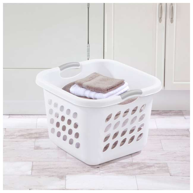 12 x 12178006 Sterilite 12178006 Ultra Square Laundry Basket with Titanium Inserts (12 Pack) 3