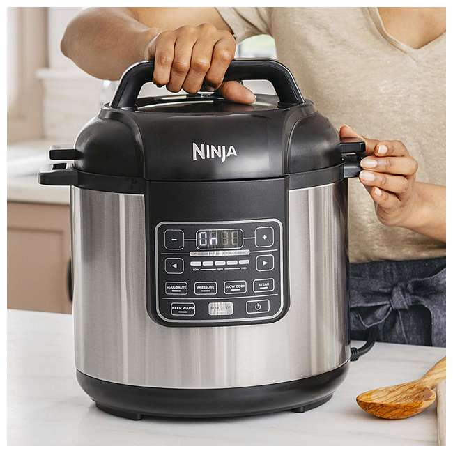 PC101_EGB-RB Ninja PC101 Instant Cooker with Steam Rack, Black (Certified Refurbished) 1
