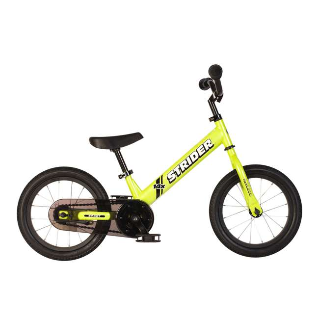 SK-SP1-US-GN Strider 14x 2-in-1 Kids Balance to Pedal Bike Kit, Green 1