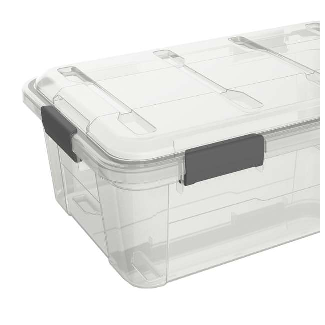 FBA32226 Ezy Storage Weather Proof IP65 32 Liter Plastic Storage Container Bin Box w/ Lid 1