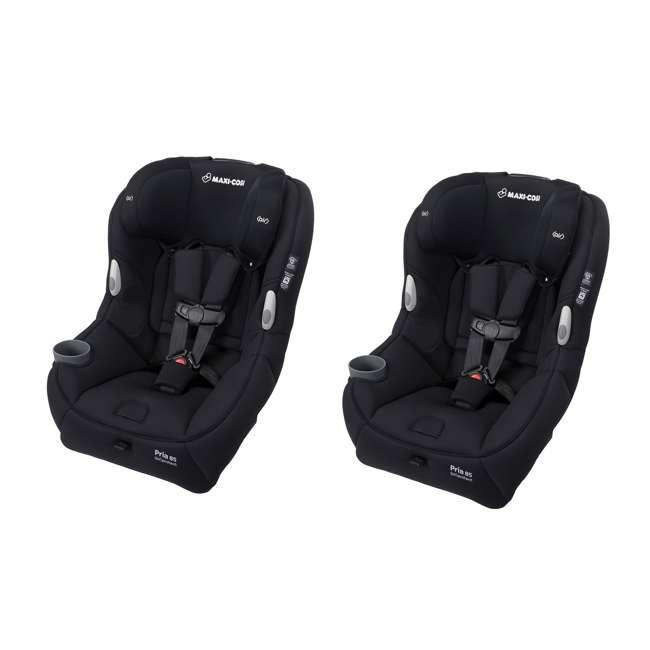 CC201EMJ Maxi-Cosi Pria 85 Car Seat with Base, Night Black (2 Pack)