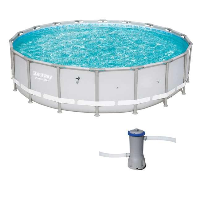 15441-BW + 58388E-BW Bestway 18 x 4 Ft Above Ground Pool w/Cartridge Filter Pump
