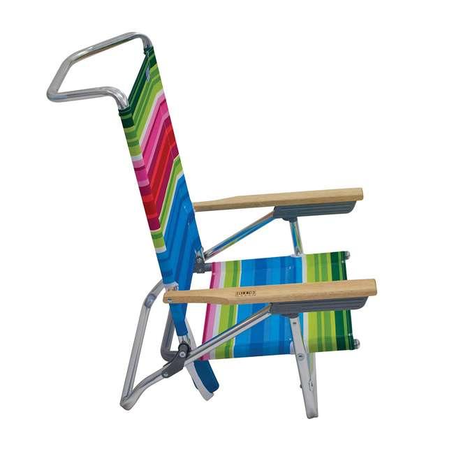 ASC590-1803-1 Rio Classic 5 Position Aluminum Lay Flat Folding Beach Lounge Chair, Beach Club 4