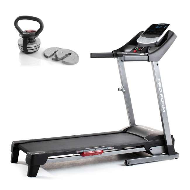 PFTL40917 + WAWkB2017 ProForm Home Treadmill and Weider PowerBell 20 Pound Kettlebell