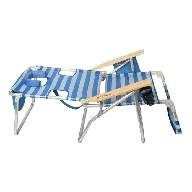A3N1-2000S Ostrich 3-N-1 Altitude Outdoor Lounge Reclining Beach 16-Inch Height Chair, Blue 4