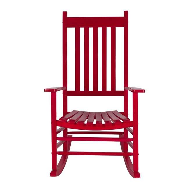 SHN-4332CP Shine Company Vermont Hardwood Outdoor Porch Patio Rocker Chair, Chili Pepper 3