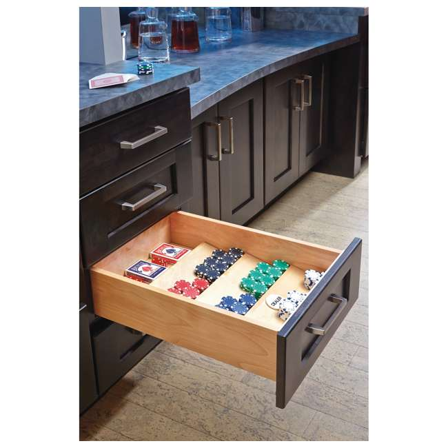 "4SDI-18-U-A Rev A Shelf 18"" Wood Spice Kitchen Drawer Insert, Maple  (Open Box)  (2 Pack) 1"