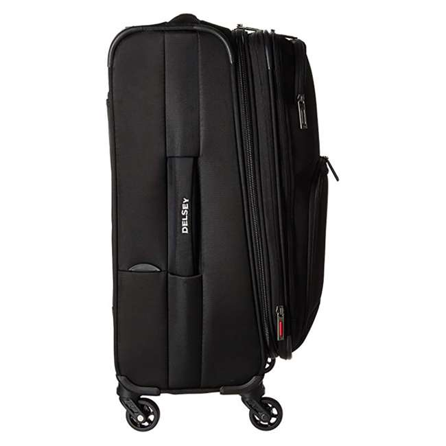 "40328280500 DELSEY Paris Sky Max 20"" Expandable Spinner Upright Large Travel Carry On, Black 4"
