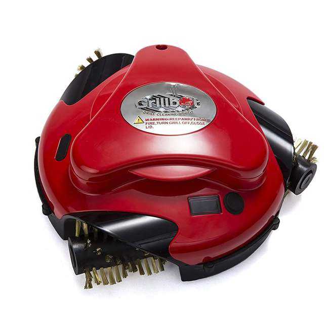 GBU:BUN3:RED Grillbot BUN3:RED Automatic Outdoor Grill Cleaning Robot with Carry Case, Red 1