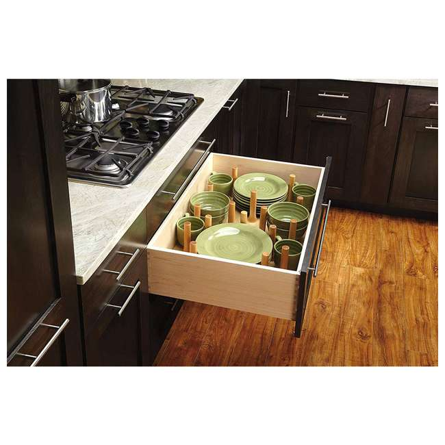 4DPS-3021-U-A Rev-A-Shelf 12 Peg Board System for 30 x 21in Drawers, Maple (Open Box) (2 Pack) 1