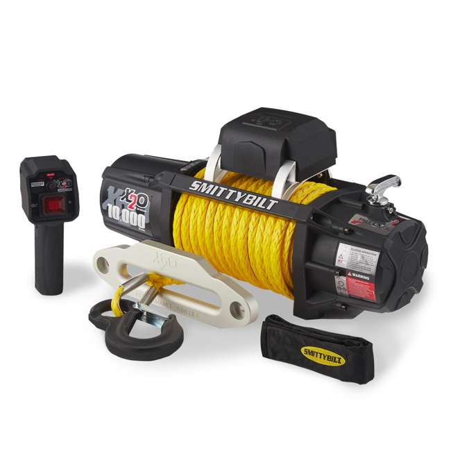 98510Y-SMITTTYBILT Smittybilt 98510Y X2O Gen2 10,000 Pound Wireless Waterproof Synthetic Rope Winch
