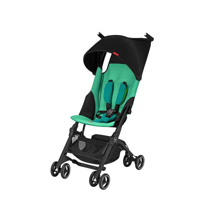 618000797 GB 618000797 Pockit Record Collapsible Folding Infant Stroller, Laguna Blue
