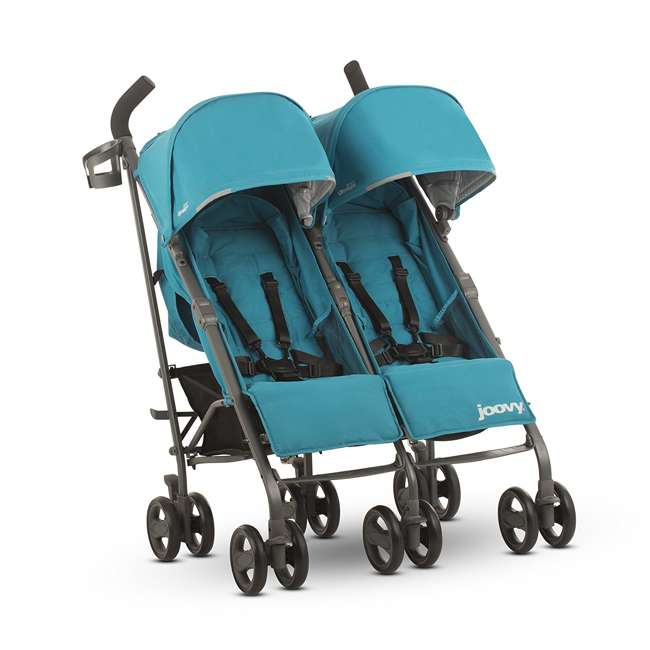 JVY-8080 Joovy Twin Groove Double Ultralight Umbrella Stroller, Turquoise