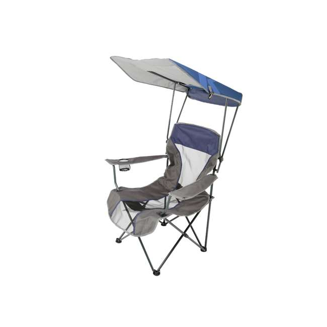 80188 Kelsyus Premium Portable Camping Folding Lawn Chair w/ Canopy, Navy | Open Box 1